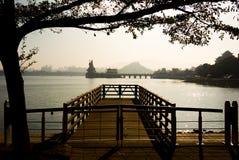 Kaohsiung lotus lake Stock Photography