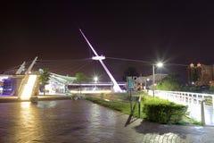 Kaohsiung port parkerar nattsikt Royaltyfri Bild