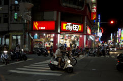 Kaohsiung street at night Stock Images