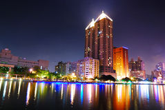 Kaohsiung, Taiwan. The city night in Kaohsiung, Taiwan Stock Photo