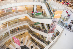 KAOHSIUNG, TAIWAN. KAOHSIUNG - TAIWAN, 16 FEBRUARY 2014:Taiwan has many large department stores, a lot of people will come to this holiday shopping to buy things royalty free stock photography