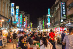 KAOHSIUNG, TAIWAN - 20. APRIL: Taiwans einzigartige Kultur, Nacht Baza Stockfotografie