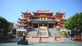 Buddhist Temple in Taiwan. stock footage