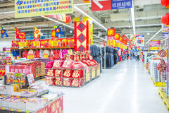 KAOHSIUNG, TAIWAN. DECEMBER 22, 2013:Many people come here to go shopping with the whole family consumption in dream mall on 22 December 2013, dream mall is Royalty Free Stock Photography