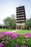 Kaohsiung, Taiwan - December 1,2017: Two Assemblies pagoda in Fo Guang Shan Buddha Museum Royalty Free Stock Photo