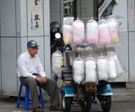 Selling Candy Floss in Taiwan Stock Images
