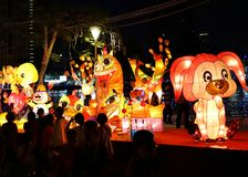 The 2018 Lantern Festival in Taiwan Royalty Free Stock Image