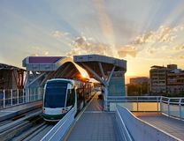 New Light Rail System in Taiwan Stock Photography