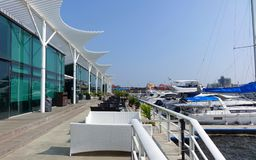 Taiwan Yacht Harbor and Restaurant Royalty Free Stock Photos
