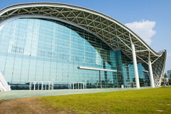 KAOHSIUNG, TAIWAN. He newly opened Kaohsiung Exhibition Center during the 2014 Taiwan International Boat Show Stock Photo