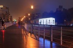 Kaohsiung, Taiwan, o 22 de fevereiro de 2015: Festival de lanterna em Kaohsiung, Taiwan pelo centro da arte do cais 2 Fotografia de Stock Royalty Free