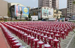 Election Rally in Taiwan stock image