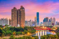 Kaohsiung, Tajwańska linia horyzontu Obrazy Royalty Free