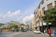 Kaohsiungs-Streetscape, luftgetrockneter Ziegelstein rgb Stockbilder