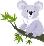 Kaola se reclinó sobre un árbol stock de ilustración