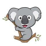Kaola stand auf einem Baum still vektor abbildung