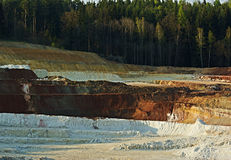 Kaolin Mine 1 royalty free stock images