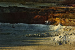 Kaolin Mine 2 Royalty Free Stock Images