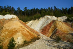 Kaolin mine Stock Photos
