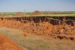 Free Kaolin Quarry At Tavria Steppe Stock Images - 149686344