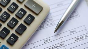kaos figures finansiella nummer Arkivbild