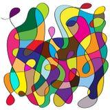 Kaos formar och färgar bakgrund stock illustrationer