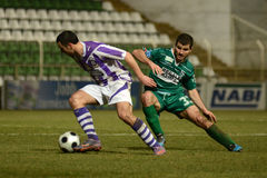 Kaosvar - Ujpest soccer game Royalty Free Stock Photo