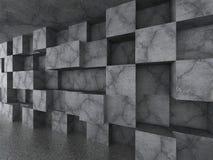 Kaotisk betong skära i tärningar väggarkitekturbakgrund Arkivbilder