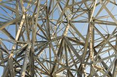 kaotisk stålstruktur för konst royaltyfri fotografi