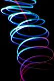 Kaotiska färgrika lampor royaltyfri fotografi