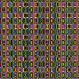 kaotiska fyrkanter Arkivfoto