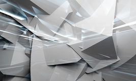 Kaotiska polygoner och ljus 3d royaltyfri illustrationer