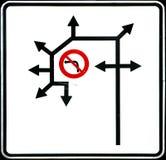 Kaotiskt vägmärke Royaltyfria Foton