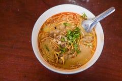 Kaow Soi Kai Curry Noodles Of Thailand Royalty Free Stock Image
