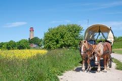 Kap Arkona, остров Ruegen, Балтийское море, Германия Стоковые Фото