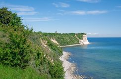 Kap Arkona, ilha de Ruegen, mar Báltico, Alemanha Foto de Stock Royalty Free