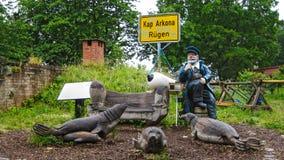 Kap Arkona, Rügen, χαιρετισμοί από τον καπετάνιο Στοκ Εικόνες