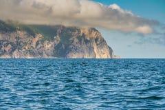 Kap Aya ist ein steiler Sporn des Haupt- Ridges des Krim-Mounta Stockbild