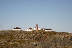 Kap Bonavista-Leuchtturm, Neufundland, Kanada auf felsigen Ufern stockfotos