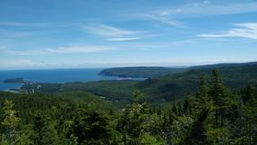 Kap-Bretone-Hochländer, Ost-Kanada stockbild