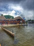 Kap Coral Yacht Club Marina Stockbilder