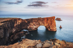 Kap Dyrholaey bei Süd-Island Höhe 120 m Lizenzfreie Stockfotografie