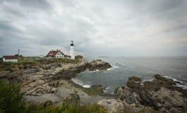 Kap Elizabeth Lighthouse Lizenzfreie Stockfotos