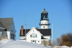 Kap Elizabeth Lighthouse, Maine stockfotos