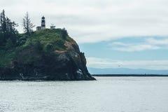 Kap-Enttäuschungs-Leuchtturm nahe Ilwaco Washington lizenzfreie stockfotografie