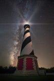Kap Hatteras Leuchtturm unter den Sternen Lizenzfreie Stockbilder