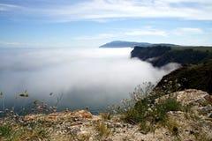 Kap Khoboy auf der Insel von Olkhon, der Baikalsee, Russland lizenzfreie stockbilder