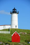 Kap Neddick-Leuchtturm, altes York-Dorf, Maine Stockfoto