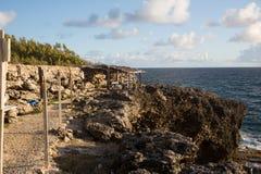 Kap North Point auf der Insel von Barbados Lizenzfreie Stockfotos