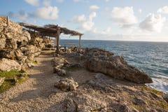 Kap North Point auf der Insel von Barbados Lizenzfreie Stockbilder